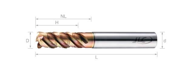 極細微粒鎢鋼抗震粗銑刀(變導型)-4刃