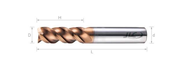 SEP極細微粒鎢鋼銑刀(圓溝型/白鐵.鑄鐵用)-3刃