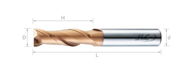 極細微粒鎢鋼銑刀(平溝型)35°-2刃