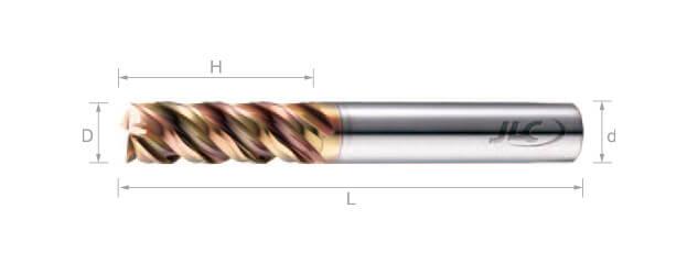 極細微粒鎢鋼銑刀(波浪型) 45°-4刃