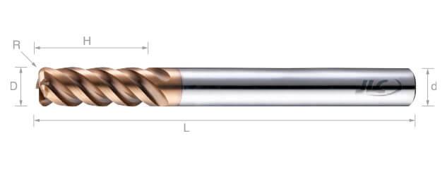 SEP極細微粒鎢鋼圓鼻銑刀(長柄型/圓溝型)-4刃