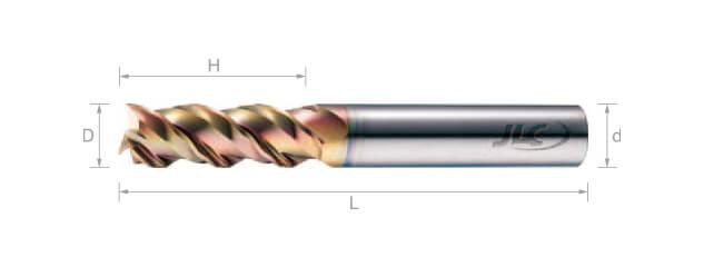 極細微粒鎢鋼銑刀(波浪型) 45°-3刃