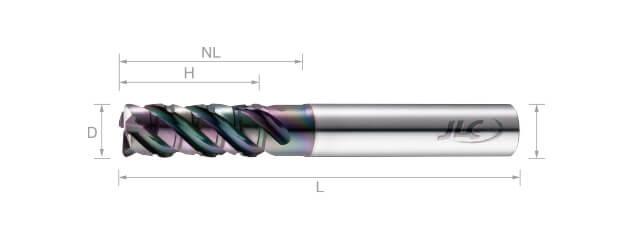 超微粒鎢鋼抗震粗銑刀(變導型)-4刃