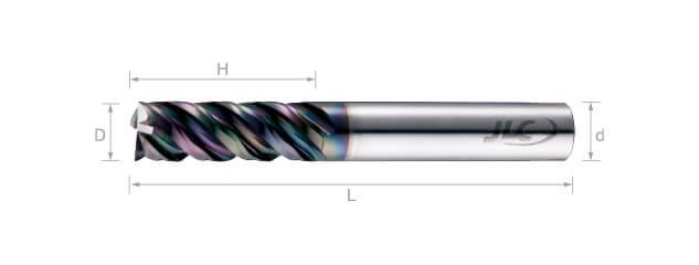 超微粒鎢鋼銑刀(波浪型) 45°-4刃