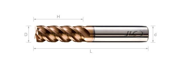 SEP超微粒鎢鋼銑刀(圓溝型)-4刃