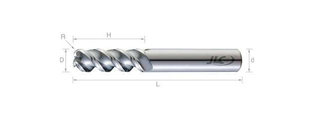 SEP鎢鋼圓鼻鋁用銑刀(圓溝型)50°-3刃