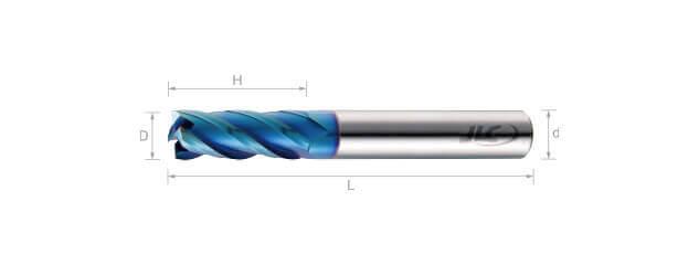 高速高硬度銑刀(標準型)-4刃