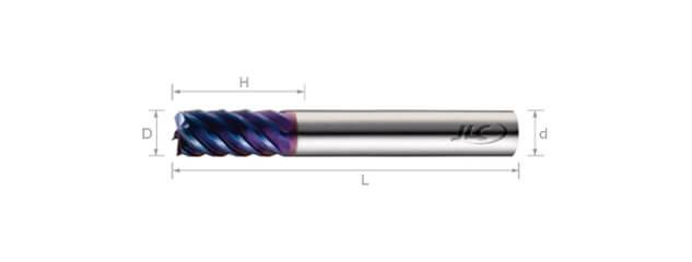 高速高硬度銑刀(標準型)-6刃