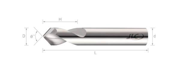 鎢鋼定點鑽(鋁用/標準型) 90˚/120˚