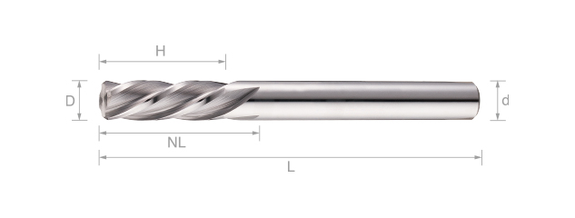 鎢鋼螺旋機械絞刀(短刃型) - 4刃