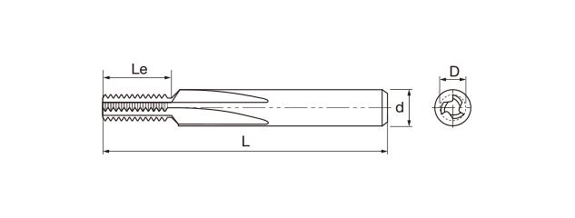 鎢鋼直刃螺紋銑牙刀-BSW(內牙/外牙)