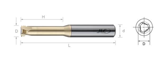 鎢鋼銑牙刀-UNJ(內牙)