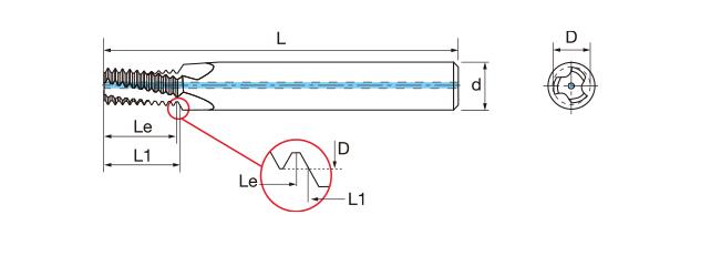 鎢鋼內冷螺紋銑牙刀-BSP(G)(內牙/外牙)