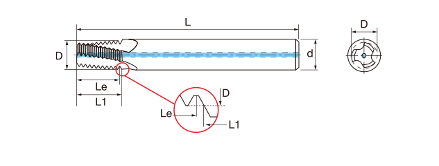 鎢鋼內冷螺紋銑牙刀-NPTF(內牙/外牙)