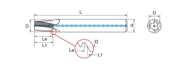 鎢鋼內冷螺紋銑牙刀-NPT(內牙/外牙)