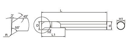 複合式自動車床 (內孔車刀)