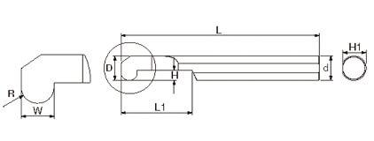 複合式自動車床 (內孔圓槽刀)