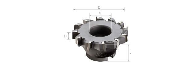 焊刃鎢鋼T型平面銑刀 (加強型/千鳥刃)