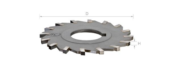 焊刃鎢鋼側銑刀 (直刃/孔徑一律25.4mm)