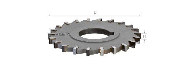 焊刃鎢鋼側銑刀 (細齒/直刃/孔徑一律25.4mm)