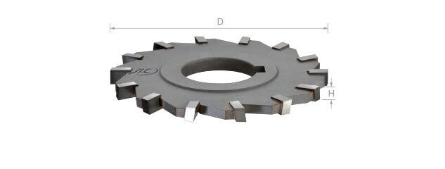 焊刃鎢鋼側銑刀 (千鳥刃/孔徑一律25.4mm)