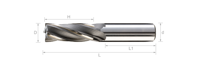 焊刃螺旋鎢鋼立銑刀 (標準型/英吋尺寸)