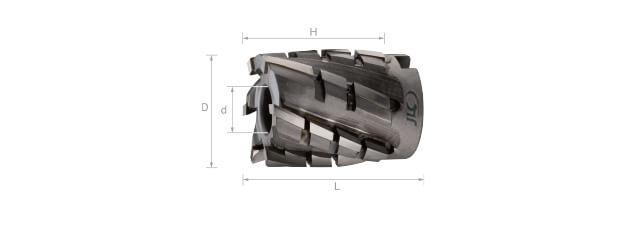 焊刃鎢鋼筒狀銑刀 (粗銑)