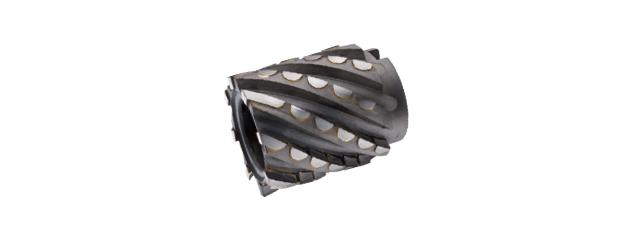 焊刃鎢鋼半圓筒狀銑刀