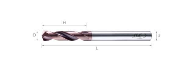 鎢鋼高速鑽頭 (5倍長) -2刃